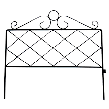 Vigoro 16 In H Black Wrought Iron Coventry Border Garden Fence 51510 The Home Depot