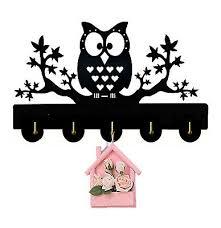 Night Owl On Tree Key Hook Key Holder Wall Hanger Handbag Wild Animal Kids Room Ebay