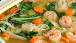 Asian Noodle Soup with Shrimp - YouTube