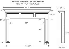 d506e3 fireplace mantel standard sizes