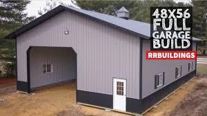building a large post frame garage full