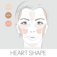 highlighter to a heart shaped face