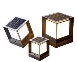 China Solar Powered Pillar Lights Fixture Project Outdoor Solar Lighting System For Fence Post China Solar Fence Cap Lamp Solar Post Cap Lighting