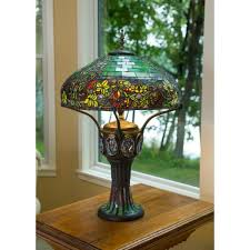 multi colored stained glass table lamp