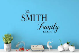 Custom Removable Family Name Wall Decal Free Domestic Etsy