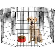 Amazon Com 36 Tall Dog Playpen Crate Fence Pet Kennel Play Pen Exercise Cage 8 Panel Pet Supplies