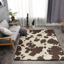 Niyoung Memory Foam Area Rug For Hotel Children Bedroom Dorm Room More Info Could Be Found At The Image U In 2020 Cow Print Rug White Faux Cowhide Rug Kids Bedroom