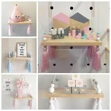 Kids Bedroom Wall Hanging Cute Shelf Floating Shelves Storage Home Decor