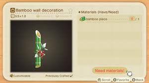 All Bamboo Diy Recipes Animal Crossing New Horizons Wiki Guide Ign