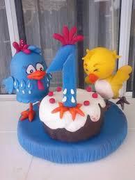 adorno de torta la gallinita pintadita