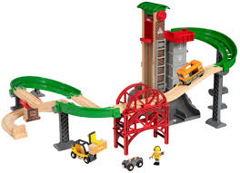brio railway lift load warehouse set