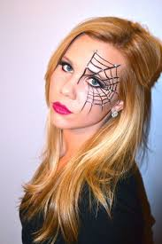 spiderweb halloween makeup tutorial