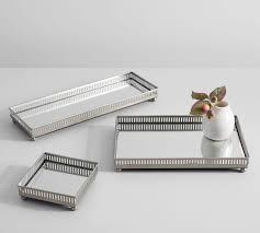mirrored dresser top trays pottery barn