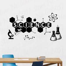 Science Wall Decal Chemistry Vinyl Sticker Education Classroom Wall Decor Mural Home Ornament Teen Bedroom Decoration Decal Wl21 Wall Stickers Aliexpress
