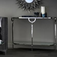 lucknow nickel console table with