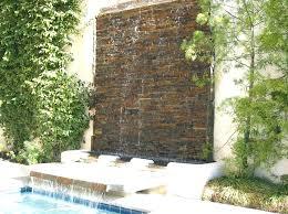 wall water feature garden fountain rock
