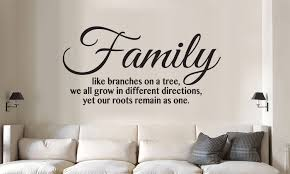 Family Like Branches On A Tree Vinyl Wall Art Quote Words Decal Sticker For Sale Online
