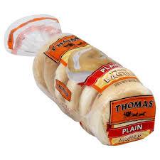 thomas bagels plain 6 ct