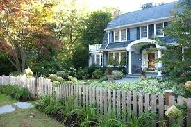 Vegetable Garden Fence Ideas With Window Boxes And Dutch Colonial