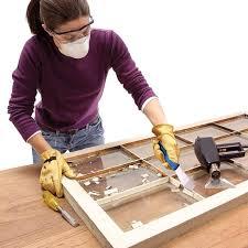 how to glaze a window single pane