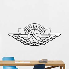 Amazon Com Personalized Air Jordan Wall Decal Custom Name Sport Basketball Poster Stencil Gym Wall Vinyl Sticker Kids Teen Boy Room Nursery Bedroom Wall Art Decor Mural 1031qq Home Kitchen