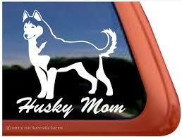 Husky Mom Siberian Husky Dog Decals Stickers Nickerstickers