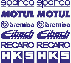 Motul Brembo Eibach Recaro Hks Sp Co Car Stickers Decal Blue Sk 003 Ebay