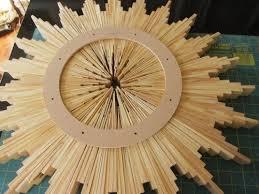 sunburst mirror of wood shims