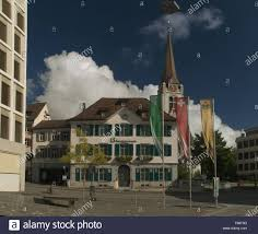 Street scene in the town of Appenzell ...