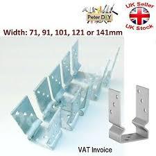 Heavy Duty Galvanised U Shape Post Fence Foot Anchors 71 141mm Thickness 3mm Ebay
