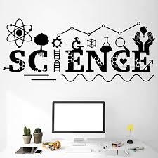 Amazon Com Wall Art Decor Decals Removable Mural Fancy Science Quotes Wall Decal Art Wall Decor Chemistry Instrument Classroom Decals Teen Boy Bedroom Decor Stickers Hot Home Kitchen