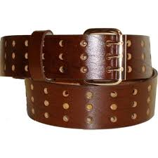 extra wide leather belt brown cowhide