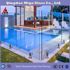 China Clear Views Modern Look Glass Pool Fence Glass Balustrade Railing For Balcony China Pool Fencing Glass Panel Clear Glass Sheet