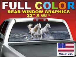 Sell Horses 66 X22 Sign Rear Window Graphic Decal Tint Dodge Ford Chevy Truck Car Motorcycle In Provo Utah Us For Us 39 99