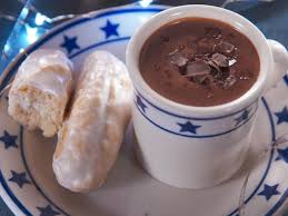 homemade hot chocolate with old