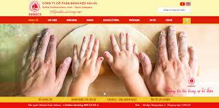 Mẫu giao diện bánh kẹo Hải Hà - Thiết kế website chuyên nghiệp.