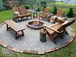 diy fire pit backyard budget decor