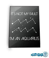 aquarius horoscope birthday print