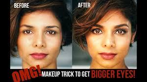makeup trick to make eyes look bigger