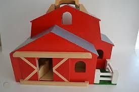 wooden red barn big solid hard wood