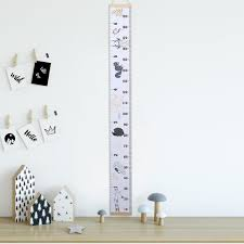Nursery Roll Up Kids Growth Bedroom Wooden Child Nordic Style Height Chart Children Room Wall Hanging Diy Home Measure Ruler Wall Stickers Aliexpress