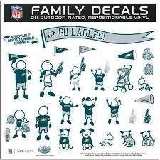 Philadelphia Eagles 11 X11 Family Car Decal Sheet Family Decals Family Car Decals San Francisco 49ers Nfl