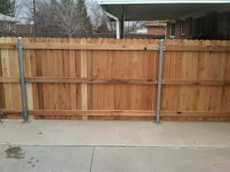 Can New Wood Fence Go Over A Raised Concrete Slab Doityourself Com Community Forums Wood Fence Post Fence Post Wood Fence