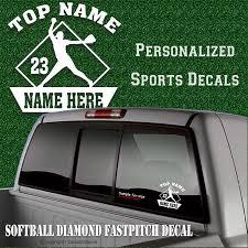 Custom Softball Fastpitch Vinyl Decal Car Window Sticker Personalized Fundraiser Sports Team