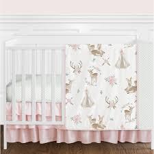 deer fl 4 piece crib bedding set
