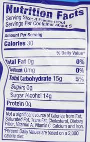 sugar free 5 flavors hard candy bag