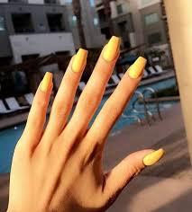 50 gorgeous yellow acrylic nails to