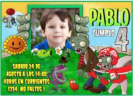 Plants Vs Zombies Invitation Birthday Printable Invitation Diy