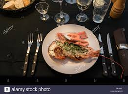 A lobster dinner on new years eve, set ...