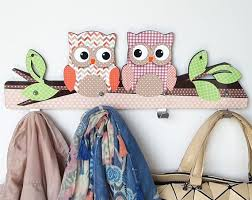 Cute Owls Wall Hanger Kids Room Decoration Coat Wall Hanger Etsy